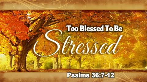 Too Blessed To Be Stressed | Psalms 36:7-12