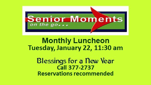 Senior Moments - Monthly Luncheon